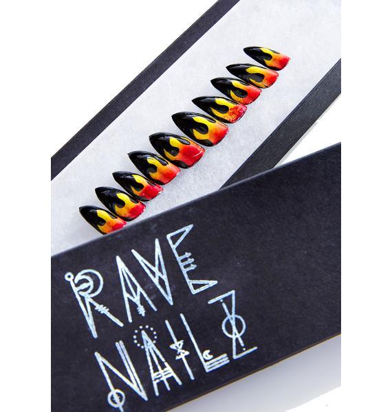 Rave Nailz Flame Nail Set