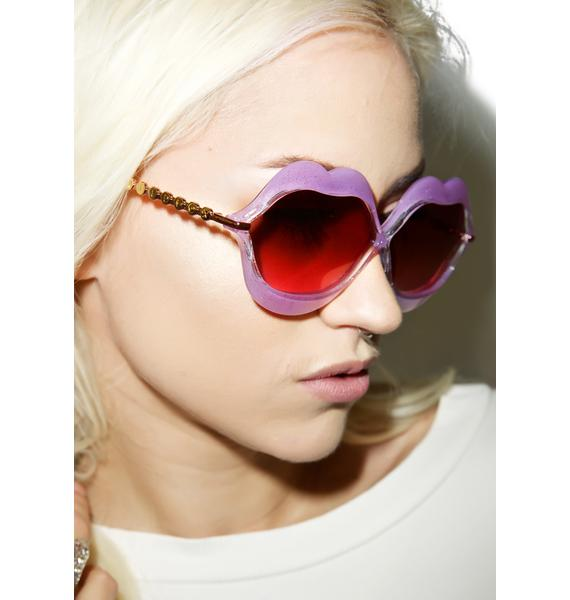 Wildfox Couture Glitter Lip Service Sunglasses