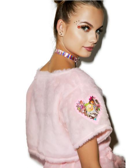 Gwen Faux Fur Crop Top