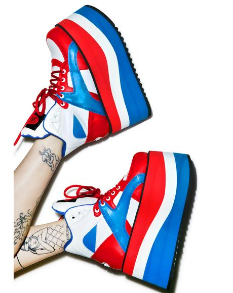 X Dolls Kill Independence Bae Platform Sneakers