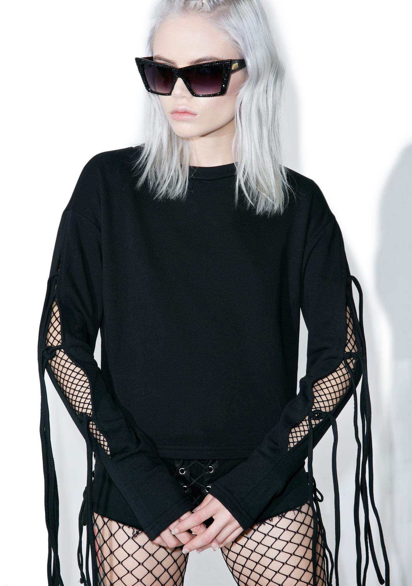 Glamorous Lurker Lace-Up Crop Top