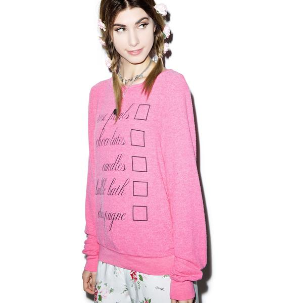 Wildfox Couture Romantic Night Baggy Beach Jumper