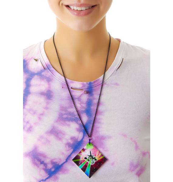 Suzywan Deluxe Major Lazer Galactic Cat Necklace