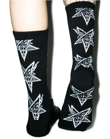 X Thrasher Goat Crew Socks