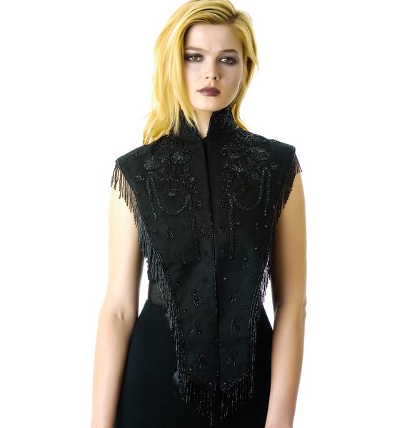 Widow Mourning Style Beaded Capette