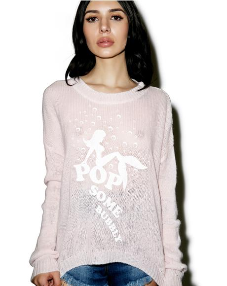 Pop Some Bubbly Beach Bummies Sweater