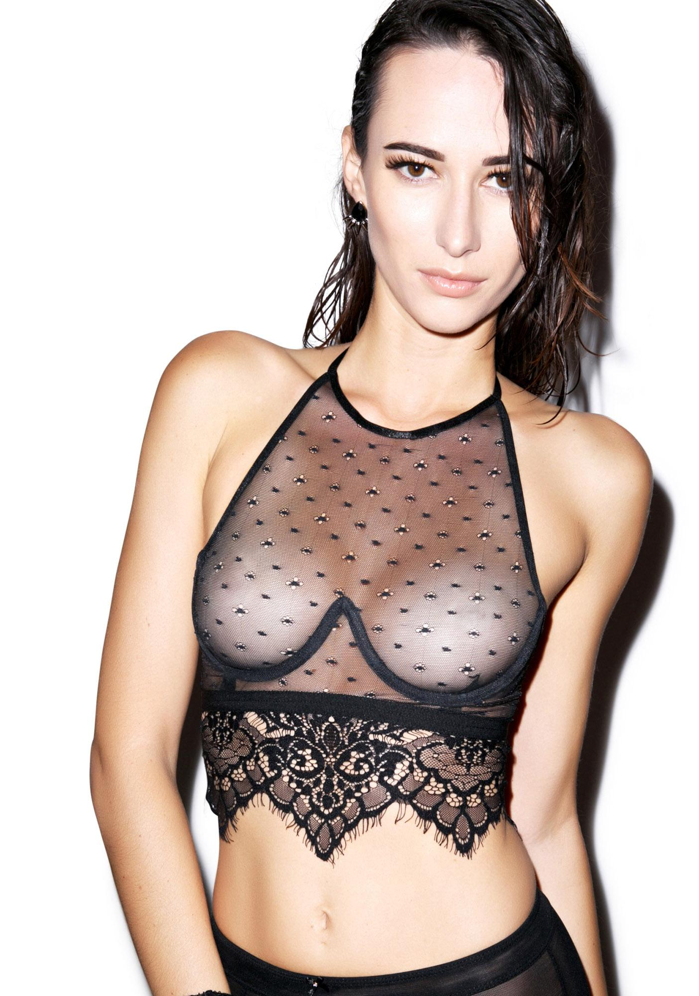 For Love & Lemons Vixen Halter Bra