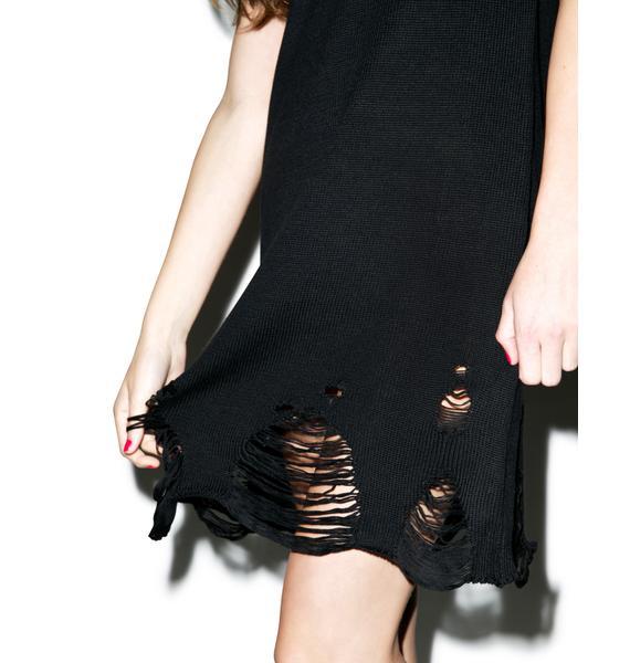 Disturbia Come Undone Vest Dress