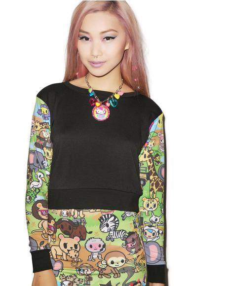 Japan L.A. x Tokidoki Savannah Crop Pullover Top