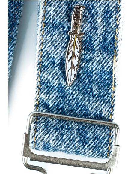 Feather Knife Pin