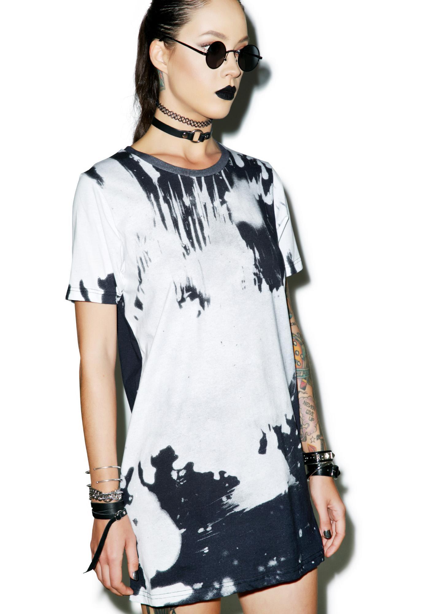 Disturbia Bleach Tee Dress