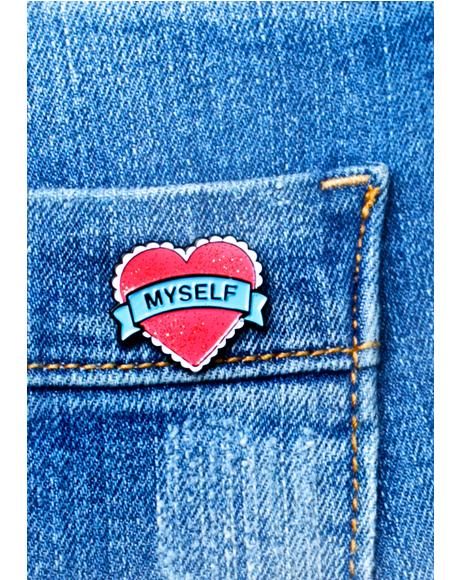 Heart Myself Enamel Pin