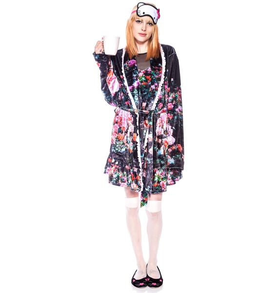 Wildfox Couture Oh Romeo Rose Garden Robe