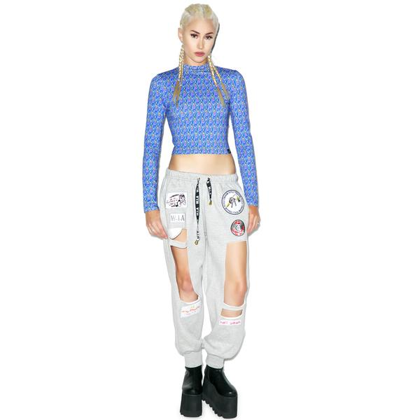 Illustrated People Octo Claw Long Sleeve Polo Crop