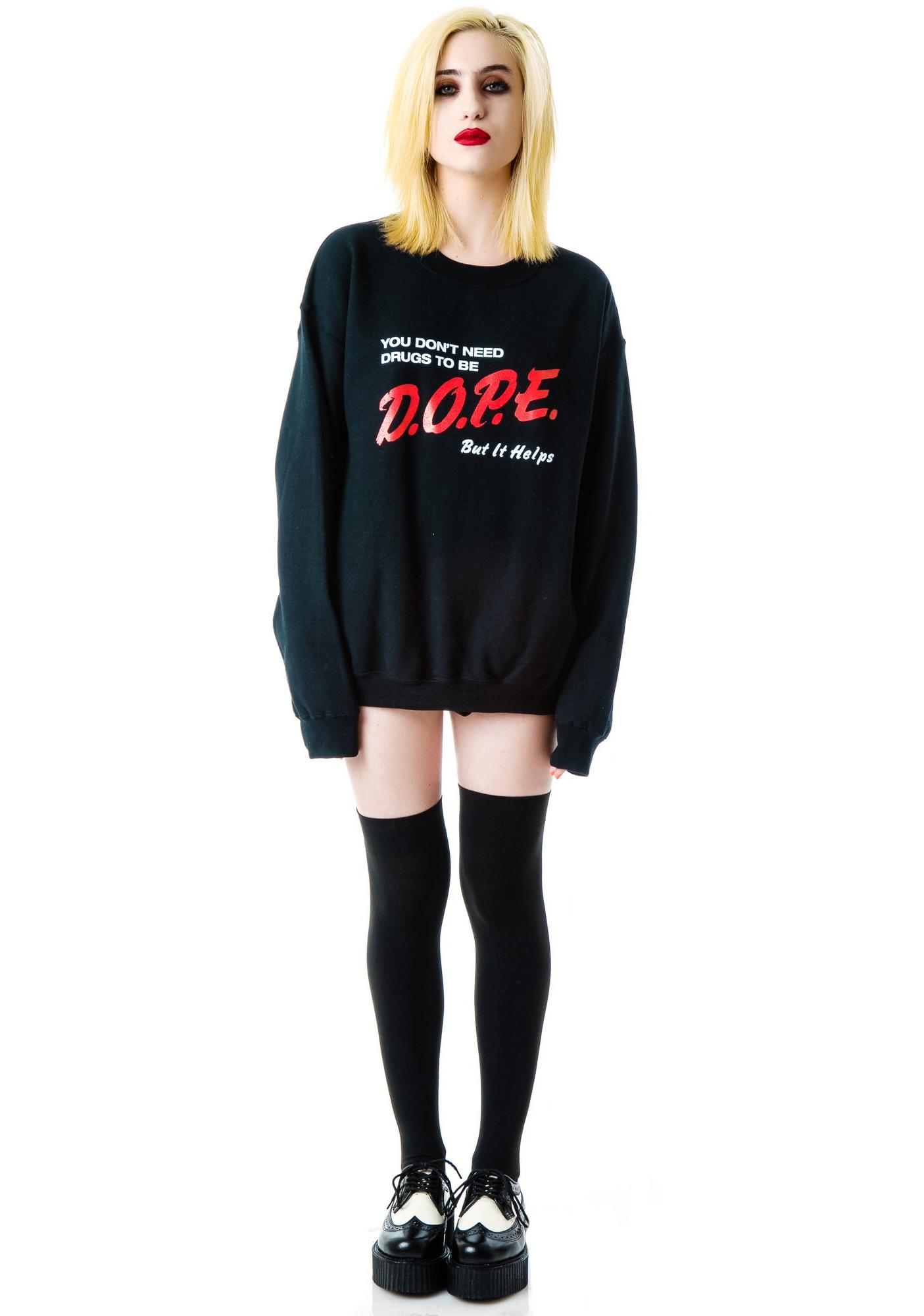 Reason DOPE Pullover Sweater
