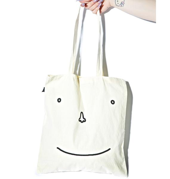 Lazy Oaf Happy Sad Face Tote Bag