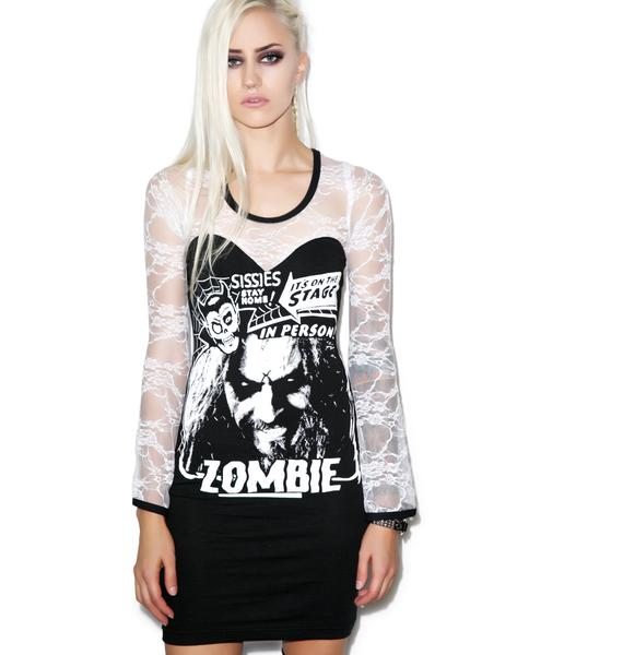 Vera's Eyecandy Zombie Head Lace Dress