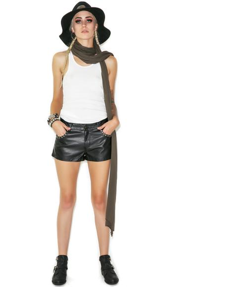 Spike Me Leather Hot Shorts