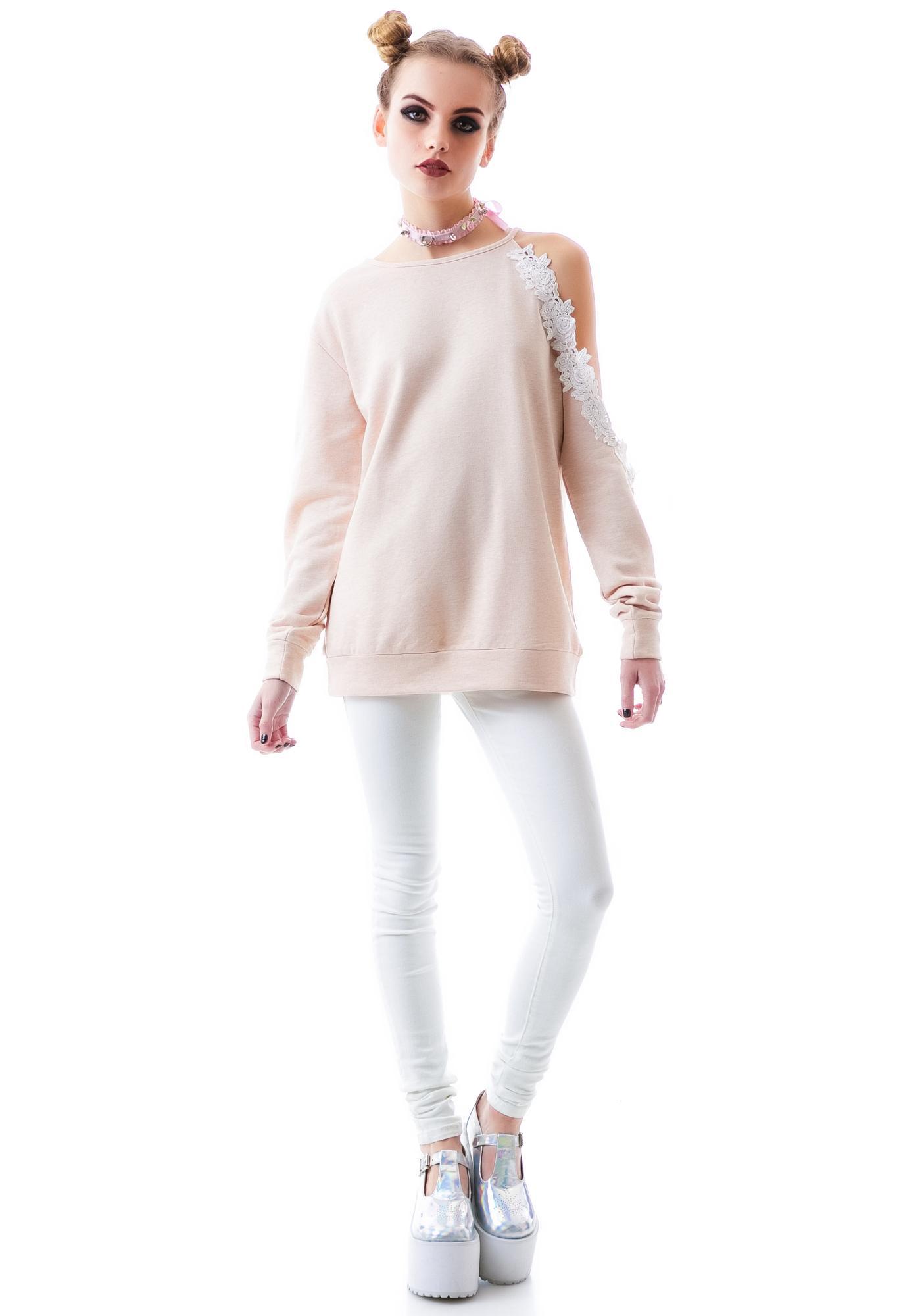 Rosie Posie Off The Shoulder Sweatshirt