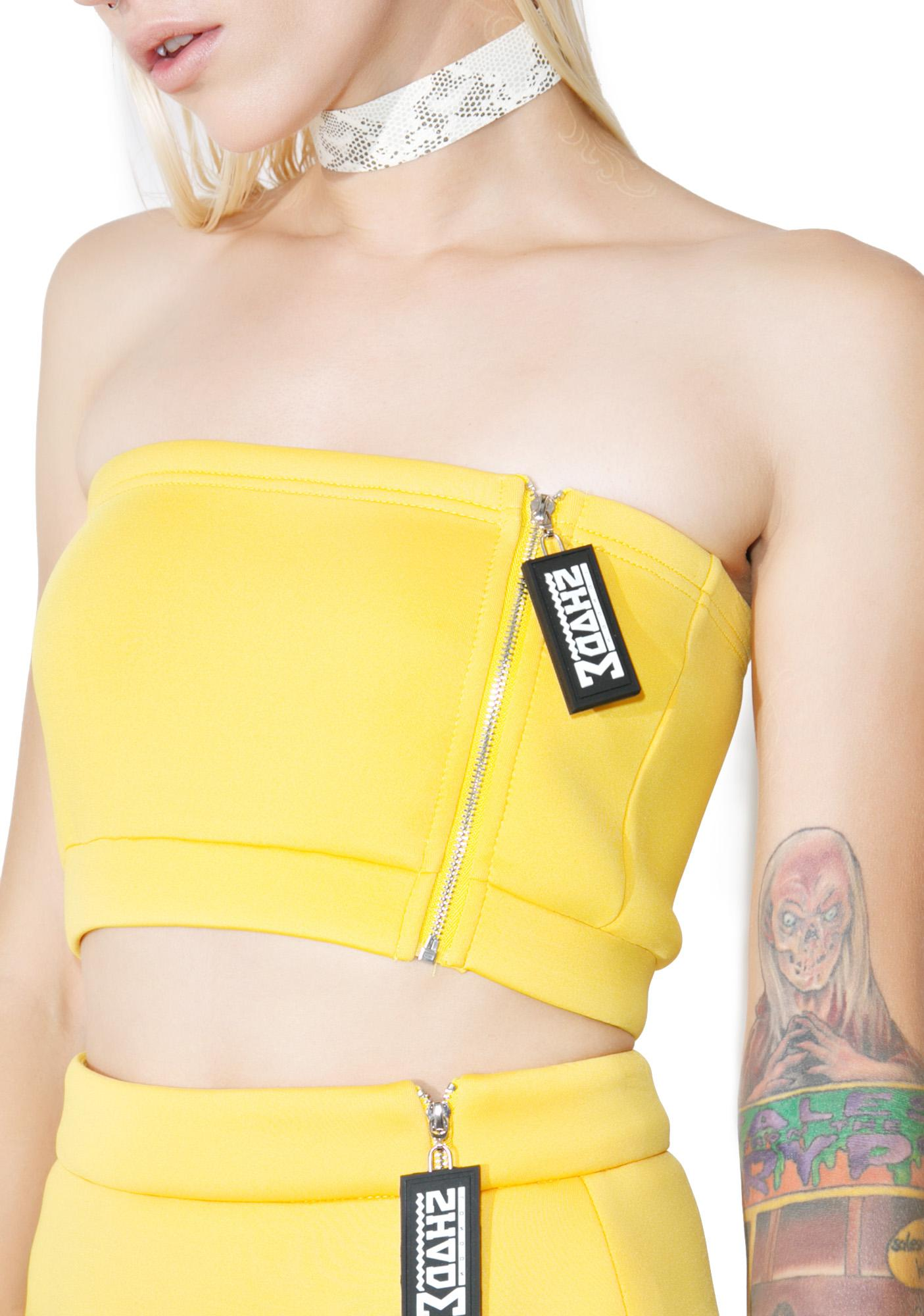 Shade London Side Zipper Tube Top