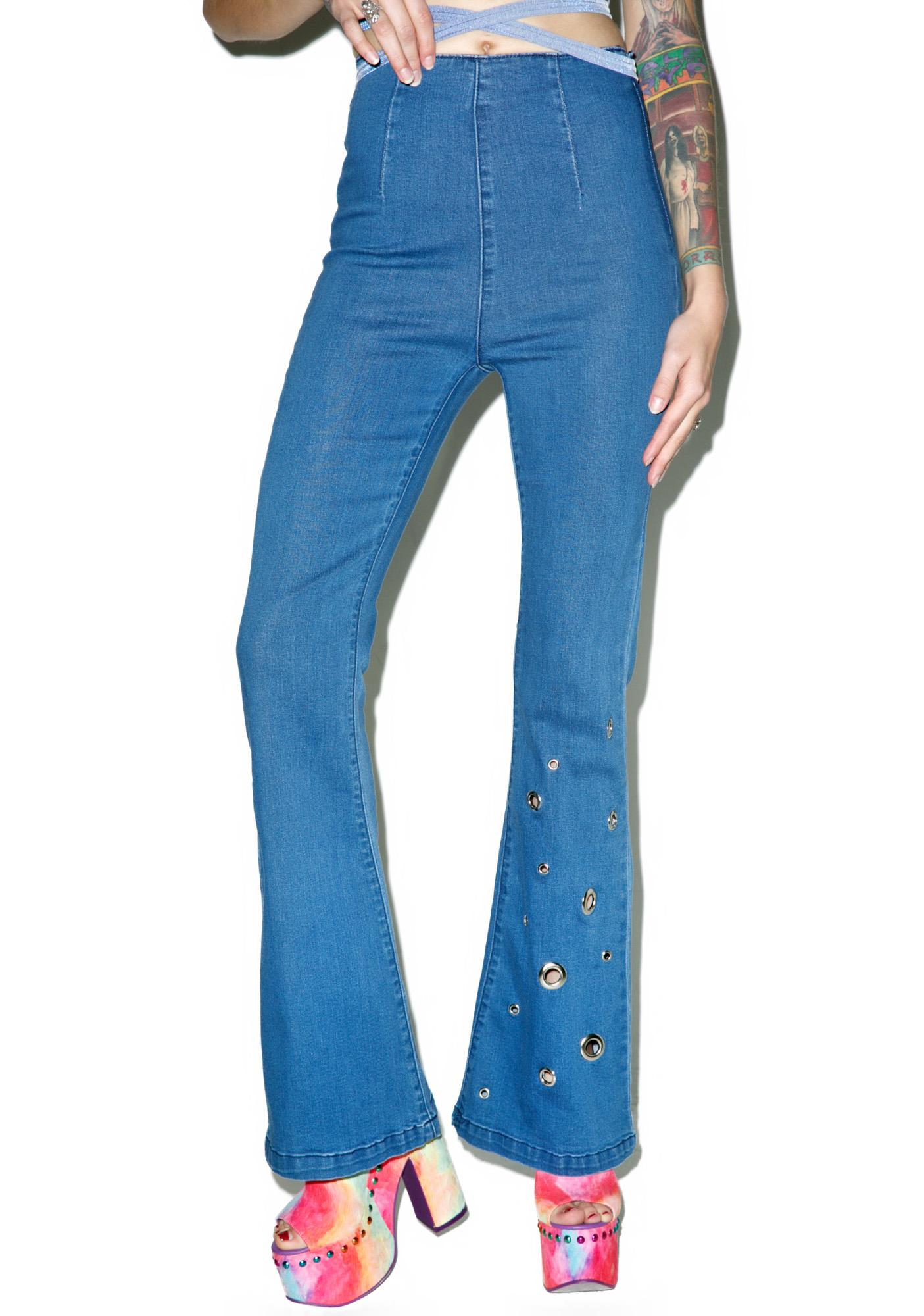 Teenage Riot Flare Jeans