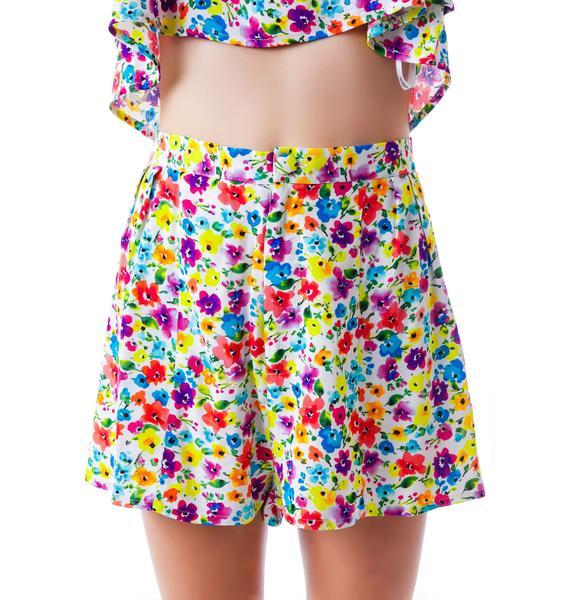 Mink Pink Wild Flower Patch Shorts