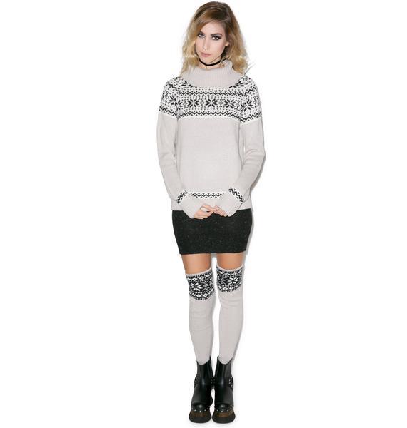 For Love & Lemons Snowed In Sweater