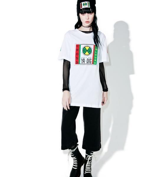 Cross Colours Flag Logo T-Shirt