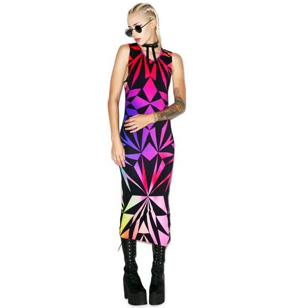 Killstar Rainbow Fractal Dress