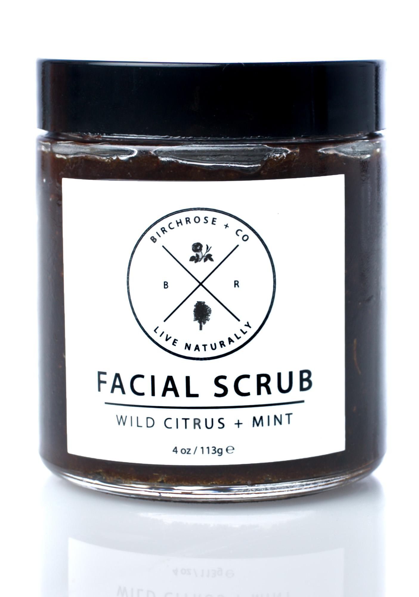 Birchrose + Co Wild Citrus + Mint Facial Scrub