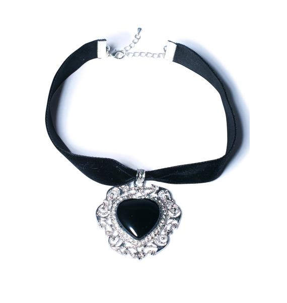 Rock n Rose Wicked Heart Choker