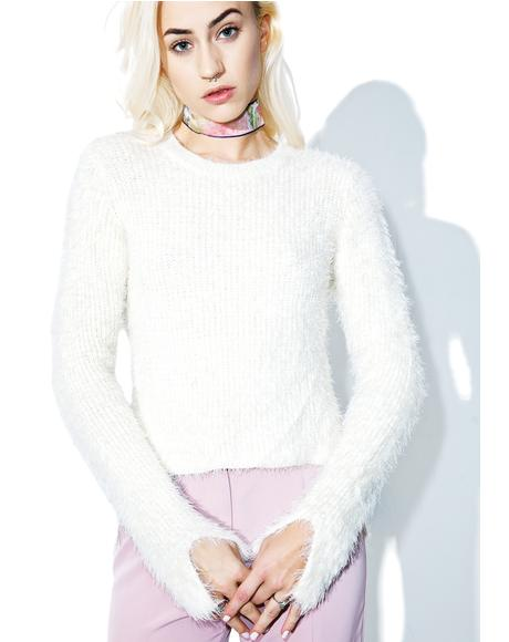 Never Clueless Fuzzy Sweater