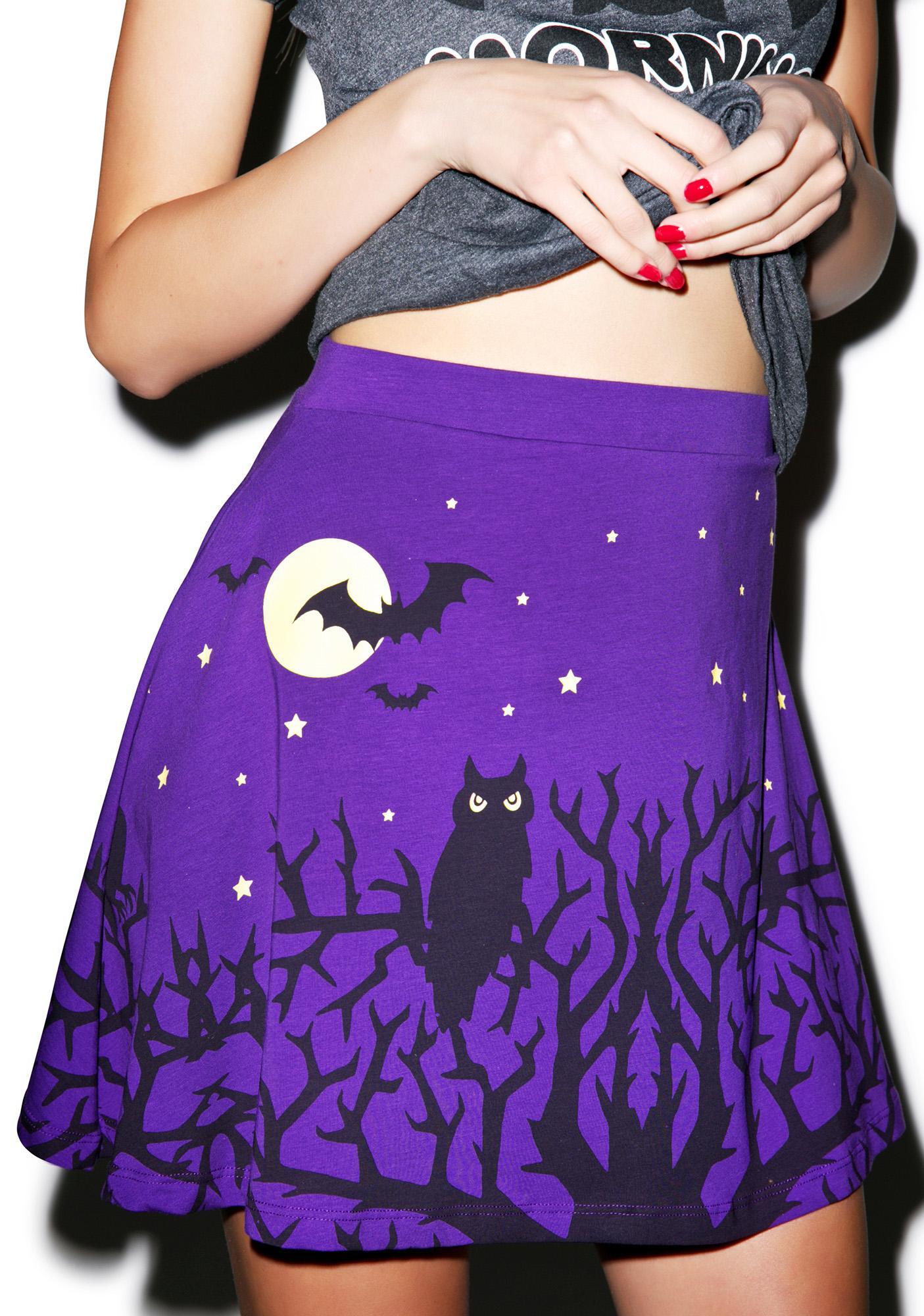Too Fast Night Owls Skirt