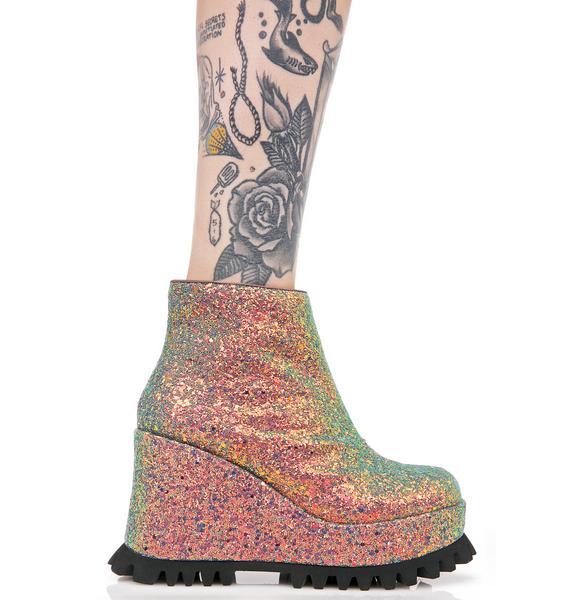 Shellys London Renee Platform Wedge Sneaker