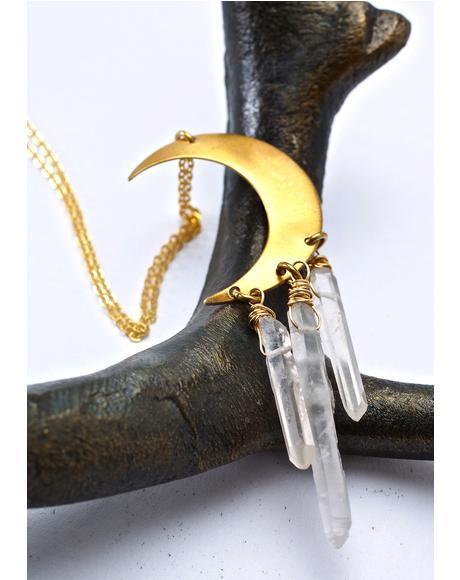 Moon Catcher Quartz Necklace
