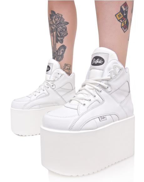 Soft Blanco Platform Sneakers