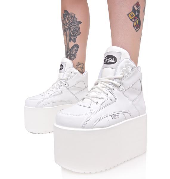 Buffalo Soft Blanco Platform Sneakers