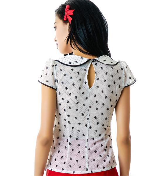 Smelling Like Roses Chiffon Top