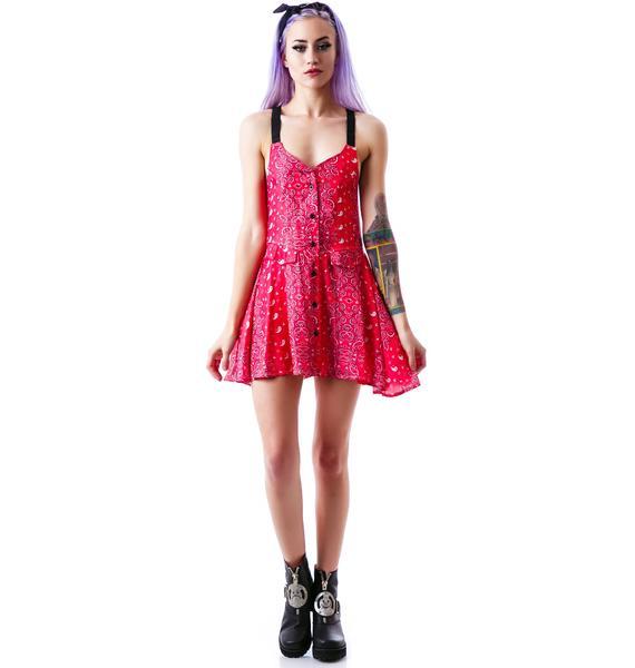 UNIF Bandana Fling Dress
