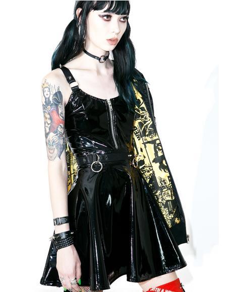 Darby PVC Skater Dress