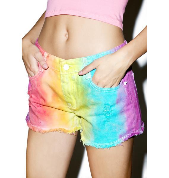 Acid Rainbow Shorts