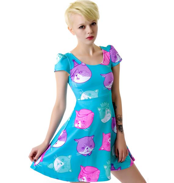 Japan L.A. Dapper Cat Cap Dress