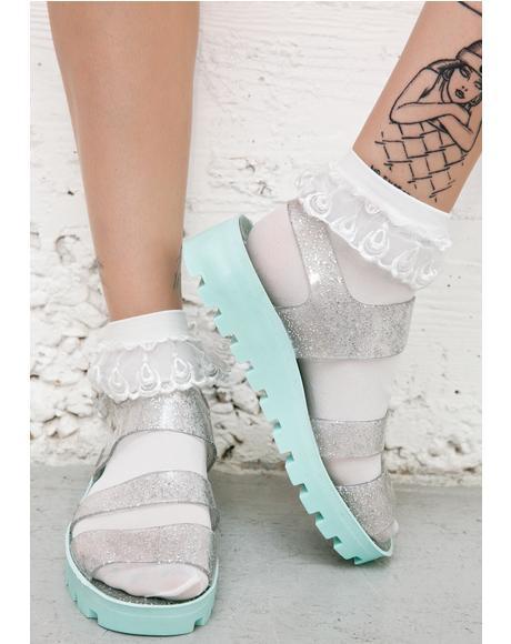 Aqua Poppy Jelly Sandals