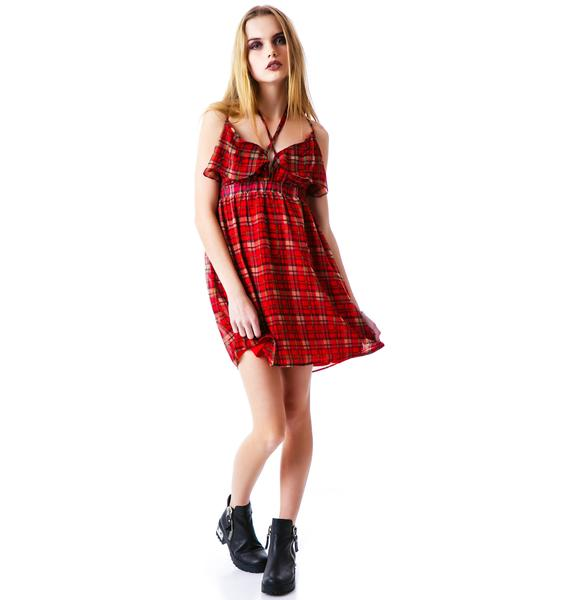 Plaid Hard Tank Dress