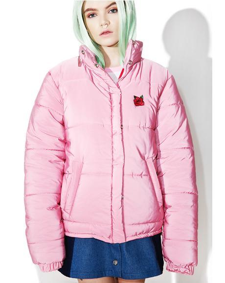 Pink Puffa Jacket