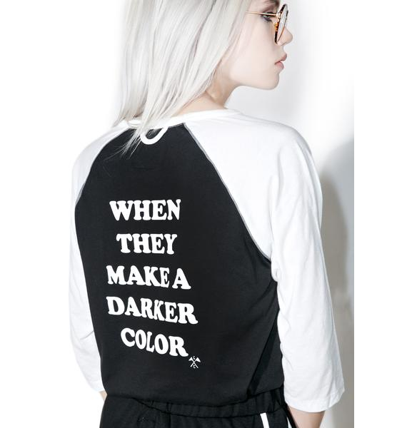 Camp Collection Darker Color Baseball Tee