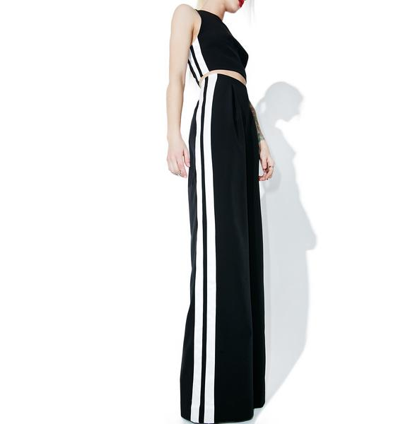 Kendall + Kylie Track-Stripe Trouser