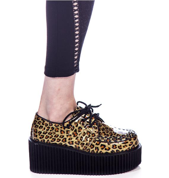 Demonia Cheetah Glitter Creepers