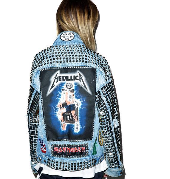 Hazmat Design Metal Head Studded Jacket