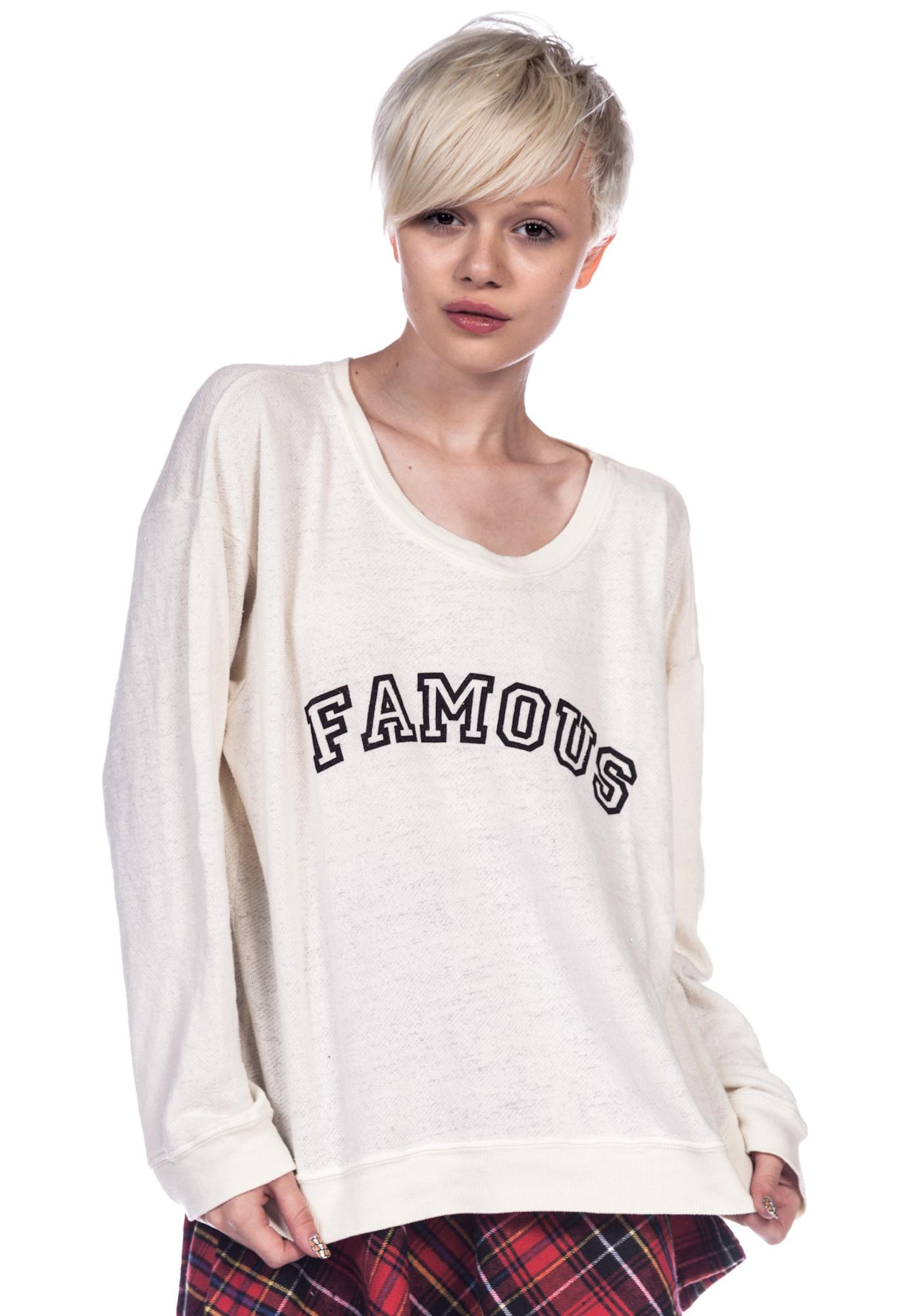 Wildfox Couture Famous Oversize Sweatshirt